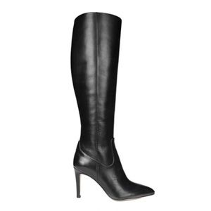 Knee High Leather Stiletto Boots
